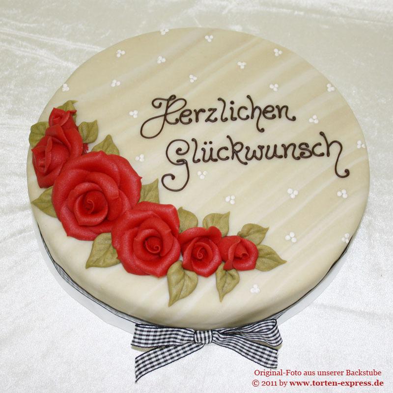 Geburtstagstorte Mit Marzipanrosen Kolner Torten Express Wir
